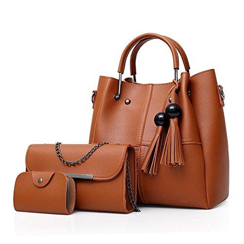 Aoligei Sac femme perles Flow Suzi sac trois pièces de style européen et américain portable sac à bandoulière C