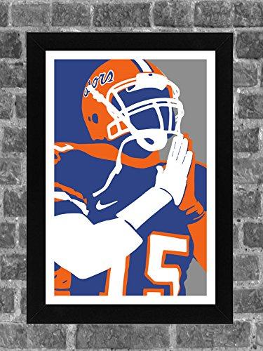 Florida Gators Tim Tebow Portrait Sports Print Art