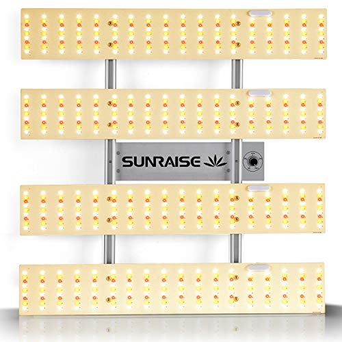 """LED Grow Light SUNRAISE QB2000 3x3ft 4x4ft Dimmable LED Grow Lights with IR, High PPFD Upgraded Full Spectrum LED Growing Lamp with 648Pcs LEDs Commercial Grow Lights with Size 22.6""""x22.6"""""""