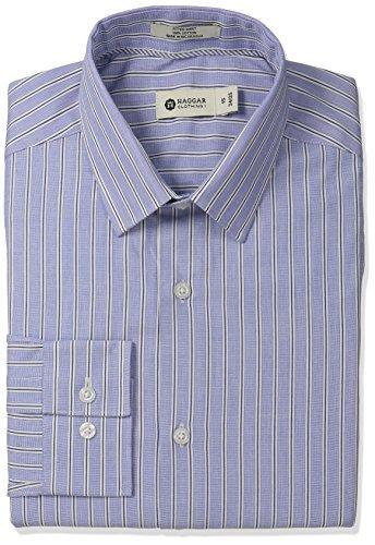 Haggar Stripe Collar Regular Sleeve