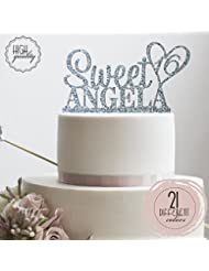 Personalized Sweet Sixteen Cake Topper 16th Birthday Cake Topper Customized Name Quincea–era Cake Topper