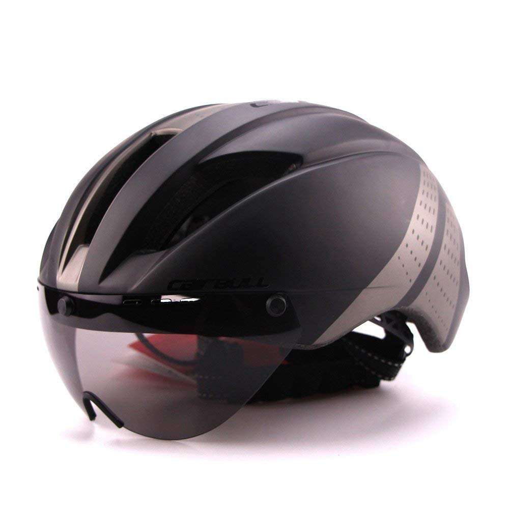 Casco de ciclismo Cairbull 2017. Casco de carreras súperligero de 280 gramos con gafas de sol, 4: Amazon.es: Deportes y aire libre