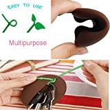 GeoBIX(TM) Novelty Silicone Coffee Bean Shape Keyring Key Bag Purse Pouch Holder Xmas Gifts