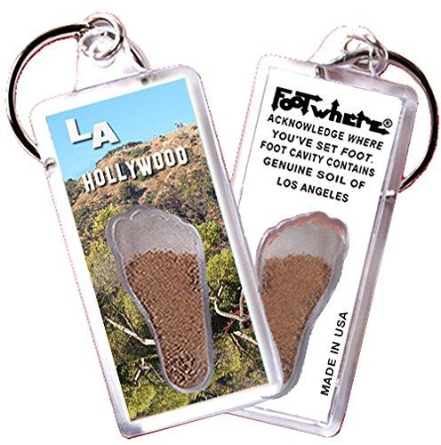 Hollywood Zipper (Los Angeles FootWhere Souvenir Key Chain. Made in USA (LA102 - Hollywood))