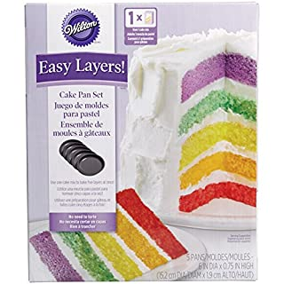 Wilton Easy Layers! 6 Inch (Set of 5),Gray