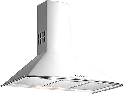 Teka - Campana decorativa pared dm775w blanco clase de eficiencia energetica a: 253.39: Amazon.es: Grandes electrodomésticos