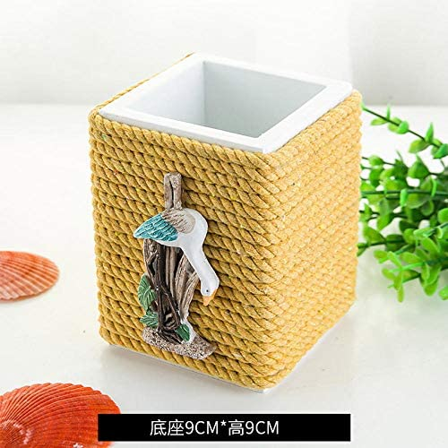 Kreative Persönlichkeit Desktop-Aufbewahrungsbox Adult Child Square Pen Halter-Seil Bogen Vogel