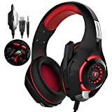 Xbox One Headset|RedHoney PS4 Gaming Headset|Xbox Gaming Headset|LED Gaming Headphones with Microphone for PS4 Xbox One PSP Netendo DS PC Tablet (Red)