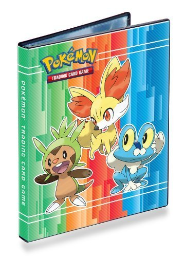 Ultra-Pro 4-Pocket Pokemon Card Binder/Portfolio ft. Chespin, Fennekin and Froakie from X and Y! (Album Holds 40-80 Cards)