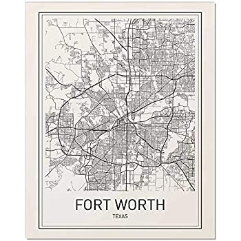 Amazon.com: Vintage 1880 Map of Map of the city of Fort Worth and ...