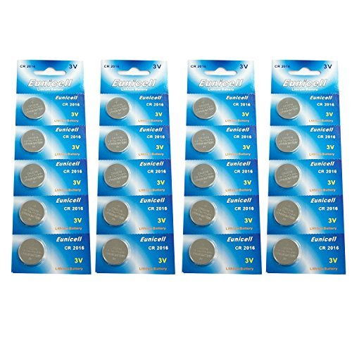 Eunicell CR2016 5000LC Lithium Blister Pack 3V 3 Volt Coin Cell Batteries (20 pcs)