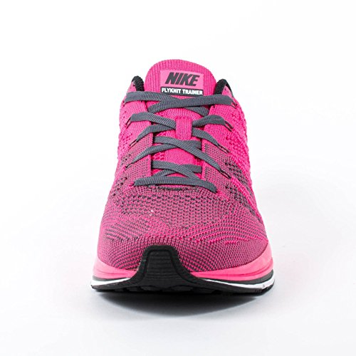 2ec8f86bc7003 NIKE Flyknit Trainer+ 532984-611 Pink Flash White Dark Grey Men s ...