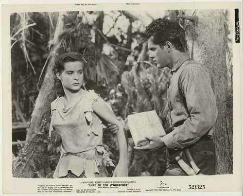 "Starlet ""Jean Peters"" and ""Jeffrey Hunter"" (Original Fox Lobby Card photo from ""Lure of the Wilderness"") #52/325"