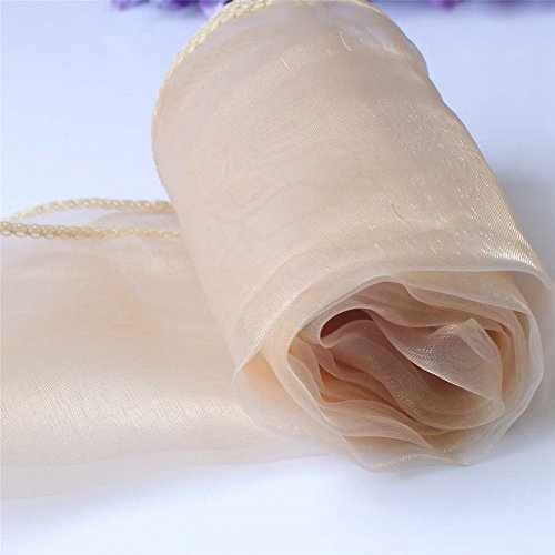 - SHENGXIA 10Pcs Sheer Organza Table Runner Wedding Party Banquet Home Decoration 12