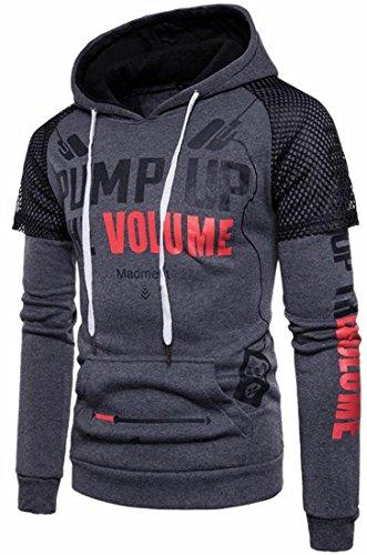 Grey Mens Digital Sweatshirt Hip Dark Sleeve Long Hop UK Printed Pullover Hooded today q4xf57wx