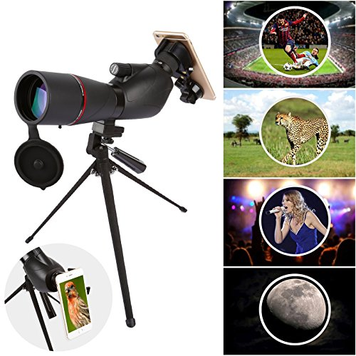 Fiturbo x Eyeskey 15-45x60 BAK4 Porro Prism Spotting Scope Monocular Telescope Waterproof with Portable Tripod and Universal Cell Phone Adapter Mount for Bird Watching, Stargazing, Hiking, Shooting by FITURBO