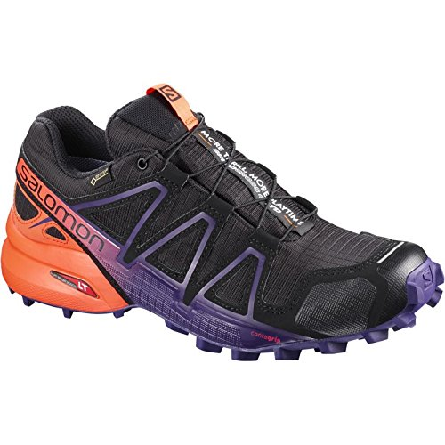 Trail Salomon Women's W Running Ltd Shoes 4 noir orange GTX Speedcross q7wr6qY
