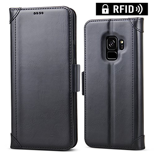 Galaxy S9 Case, Samsung Galaxy S9 Leather Case...