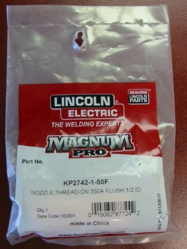 """Lincoln Electric Magnum Pro Nozzle, Thread-on, 1/2""""ID 350A -"""