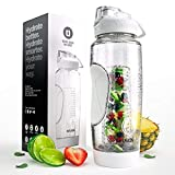 Infusion Pro 32 oz. Fruit Infuser Water Bottle with Insulated Sleeve & Detox