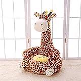 WAYERTY Children Sofa, Kid Sofa Cartoon Animal Lazy Couch Plush Toy Upholstered Baby Stool Birthday Gift Kid Chair-Brown B 50x45x85cm(20x18x33inch)