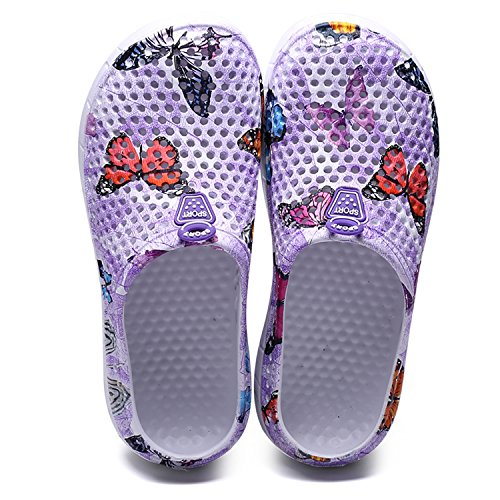 Purple Comfort Shoes Shoes Walking Dry Slippers Womens Clogs Sintiz Shower Water Non Garden Beach 1 Sandal Quick Slip aSZwY