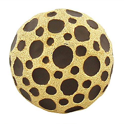 My Daily Styles Fashion Alloy Yellow Gold-Tone Brown Leopard Pattern Statement Cocktail (Brown Pattern Ring)