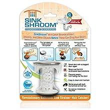 SinkShroom Revolutionary Bathroom Sink Drain Protector Hair Catcher, Strainer, Snare, Chrome Edition