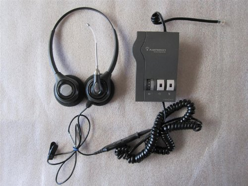 Supraplus Binaural Headset - PLANTRONICS SupraPlus H261 Binaural (2-earpiece) Headset and M22 Vista Amplifier with Cords. Very good, READY-TO-OPERATE Condition