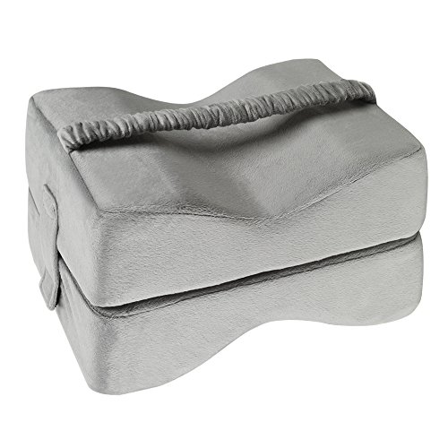 TTLIFE Sciatic Nerve Pain Relief Knee Pillow Orthopedic Doctor Recommend for Sciatica, Back Pain, Leg Pain, Pregnancy, Hip and Joint Pain - Memory Foam Cushion with Washable Cover,Grey by TTLIFE (Image #6)