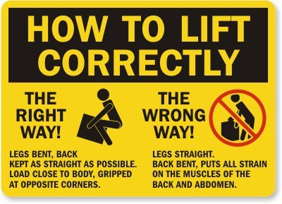 Amazon com: How To Lift Correctly The Right Way! The Wrong