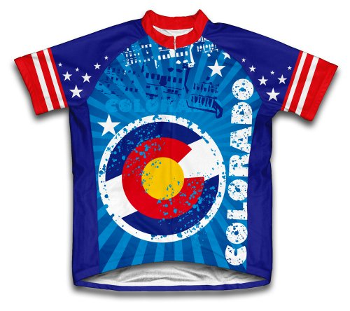 Colorado Short Sleeve Cycling Jersey for Women - Size (Colorado Cycling Jersey)
