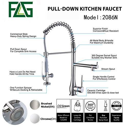 Flg Commercial Style Kitchen Sink Faucet