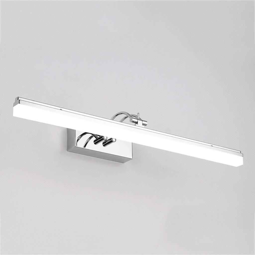 Fenciayao ミラーヘッドライトLEDバスルームメイクアップライトシンプルでモダンな防曇壁ランプバスルームアクセサリー (Color : White Light, サイズ : 49cm) 49cm White Light B07QSQ61JB