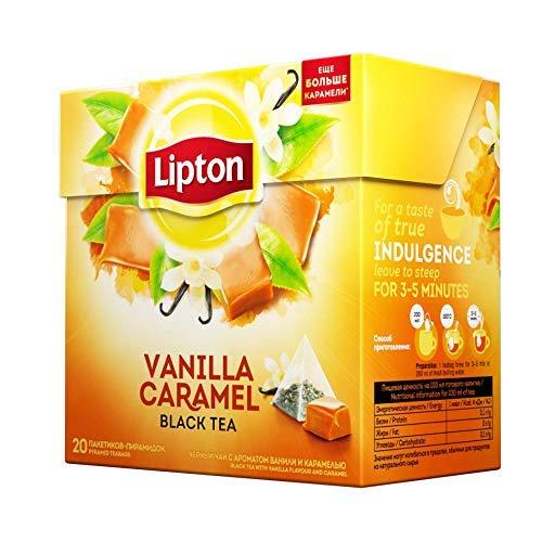 Caramel Vanilla Tea - Lipton Pyramids, Vanilla Caramel 20 ct , Imported