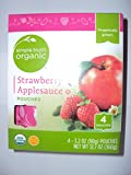 Simple Truth USDA Organic Non GMO Applesauce Travel Pouches 4 Count Box (Unsweetened, Cinnamon, Strawberry, or Mixed Berry) Pack of 2, 12.8 Oz. Each Box