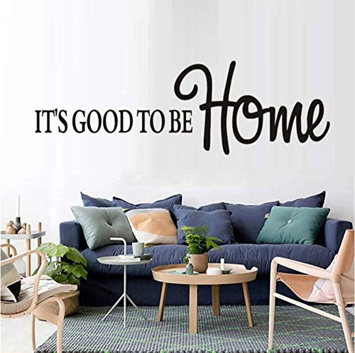 Dalxsh DIY It's Good to Be Home Decal Font Art Wall Sticker for Kids Room Baby Nursery DIY Waterproof Removable Mural Decals 59x25cm