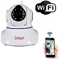 Câmera Wi-Fi IP Wireless Sem Fio HD+ 960p 2 Antenas Infra Vermelho PTZ P2P - KP-CA128 Pan - Tilt