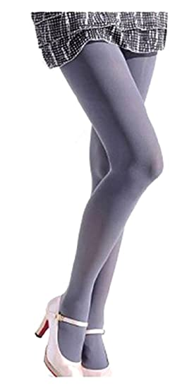 4eb26b3fc SACASUSA (TM) Sexy Color Stretchy Opaque Tights Stockings XS ~ M in Grey at  Amazon Women s Clothing store