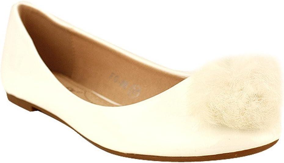 Cendriyon, Ballerine Blanche Clochette Pompon Chaussures