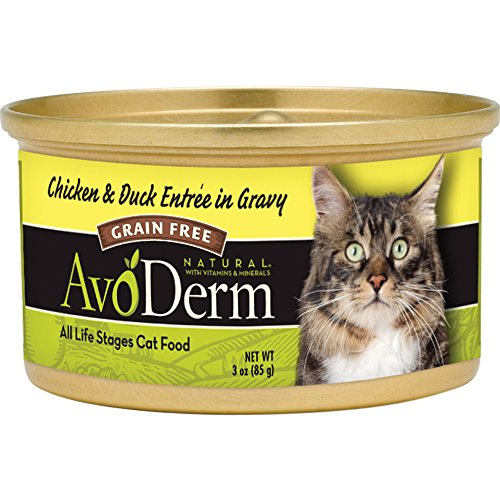 AvoDerm Grain Free Natural Entree in Gravy Cat Food, 3-Ounce Cans, Case of 24