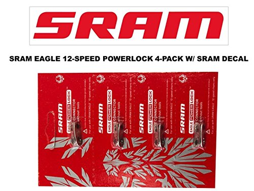 SRAM Eagle PowerLock Chain Connector 12-speed Chain Link w/ SRAM DECAL - Available in 2-PACK and 4-PACK (4) -
