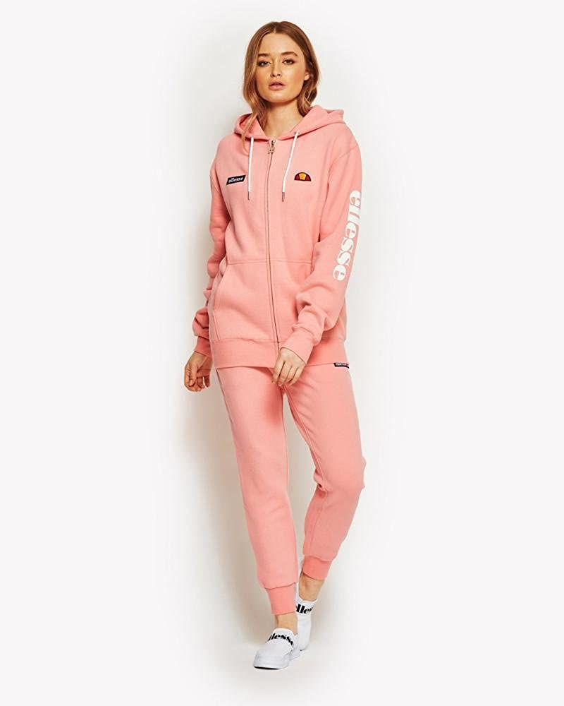 adcb86ac Amazon.com: ellesse Womens Soft Pink Serinatas Hooded Top ...