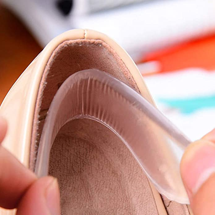 TRIXES x 3 Paires de Semelles en Gel Silicone Doublures Tampons Soins des Pieds pour Chaussures /à Talons