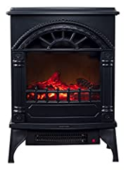 This Freestanding Electric Log Fireplace from Northwest will bring you warmth and comfort without the hazard of a real fireplace. The classic colonial design will not only add style to your house, but make it feel like home. Featuring two hea...