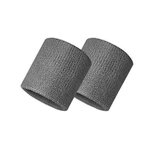 Verceys Grey Sports Wrist Band Sweat Bands Supporter For All Sports   1 Pair