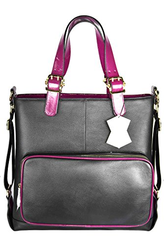 RUK Fairy front pouch handbag lawyers attorney 300 (Black with Fuschia) (Fairy Handbag Pouch)