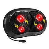Nekteck Shiatsu Deep Kneading Neck Back Massager Pillow with Heat...