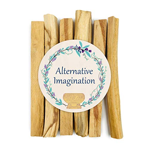 Alternative Imagination Premium Palo Santo Holy Wood Incense Sticks, for Purifying, Cleansing, Healing, Meditating, Stress Relief. 100% Natural and Sustainable, Wild Harvested. ()