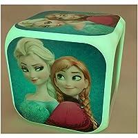 Frozen movimiento digital en forma de cubo